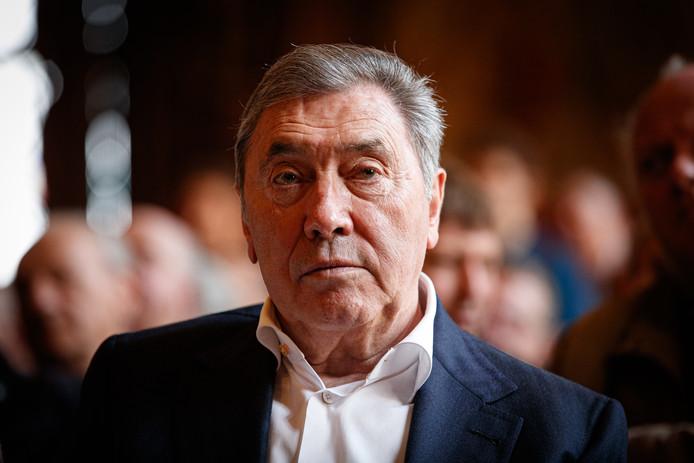 Eddy Merckx lors de la présentation du livre