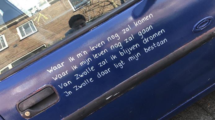 Iedereen die iets met Zwolle heeft, mag op de auto schrijven