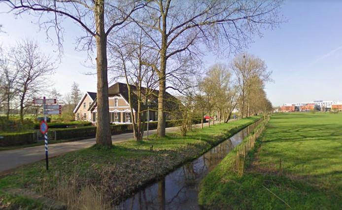 De omgeving van de Bunnikseweg, met op de achtergrond De Uithof, waar de vrouw voor het laatst werd gezien rond haar werk.