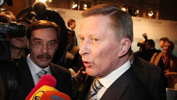 De Russische vicepremier Sergej Ivanov.