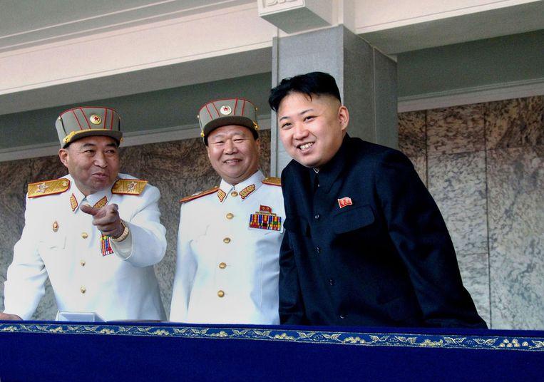 Noord-Koreaanse diplomaten wilden niet ingaan op de vraag waarom leider Kim Jong-Un al meer dan een maand niet meer in het openbaar verschijnt. Beeld AFP