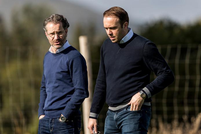 Algemeen directeur Berry van Gool van Willem II en technisch directeur Joris Mathijsen.
