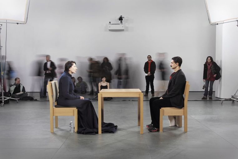 Marina Abramovic: 'The Artist Is Present', 2010. Beeld Marco Anelli