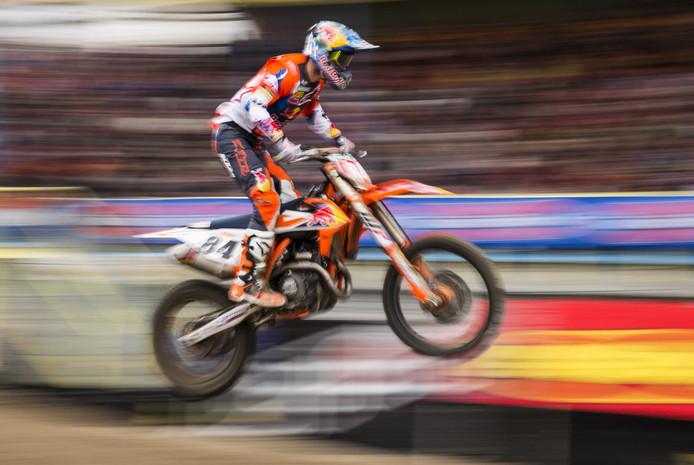 Jeffrey Herlings bij de GP van Assen.