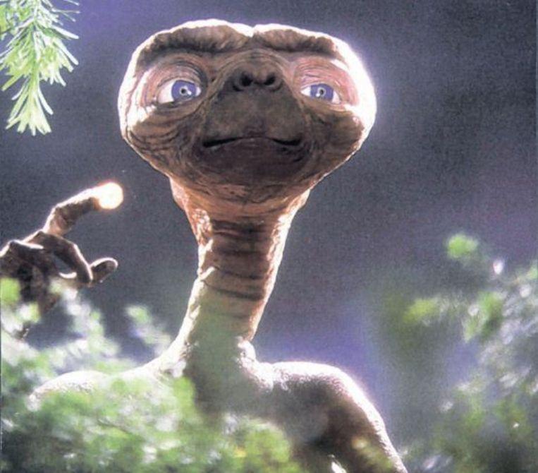 E.T. uit de gelijknamige film (1982), wellicht het bekendste buitenaardse wezen. Beeld