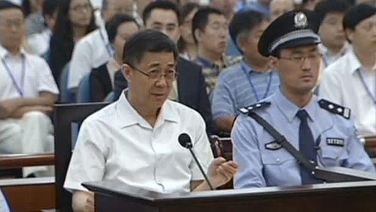 Bo Xilai in de rechtbank. Beeld reuters