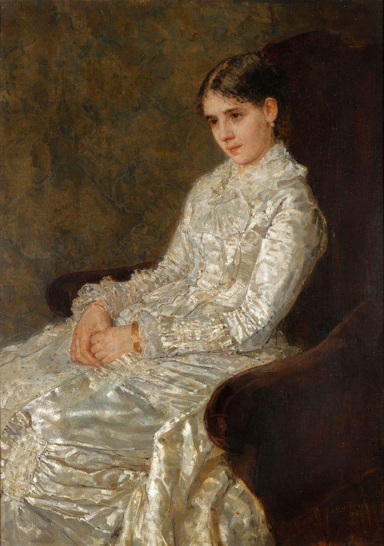 Portret van Nanette Enthoven-Enthoven, 1881, Isaac Israels. Beeld