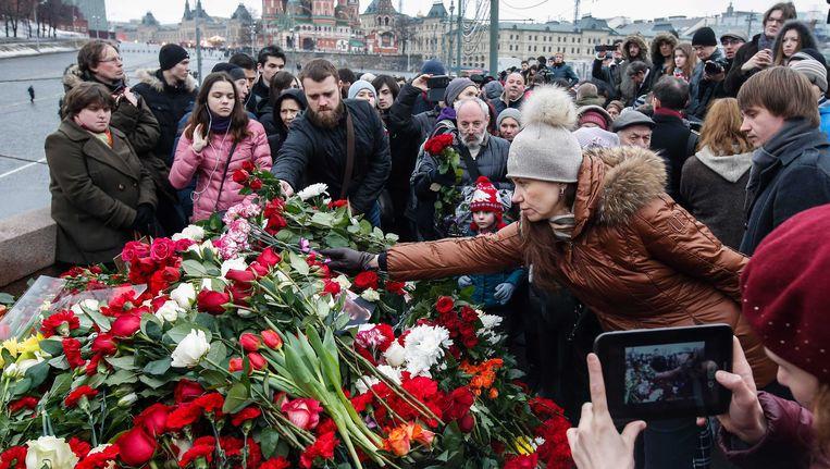 Gontsjarenko nam, net als tienduizenden Russen, vandaag deel aan de protestmars in Moskou. Beeld EPA