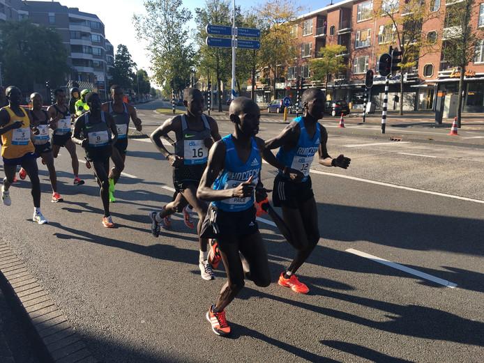 Deelnemers onderweg tijdens de Marahton Eindhoven 2016