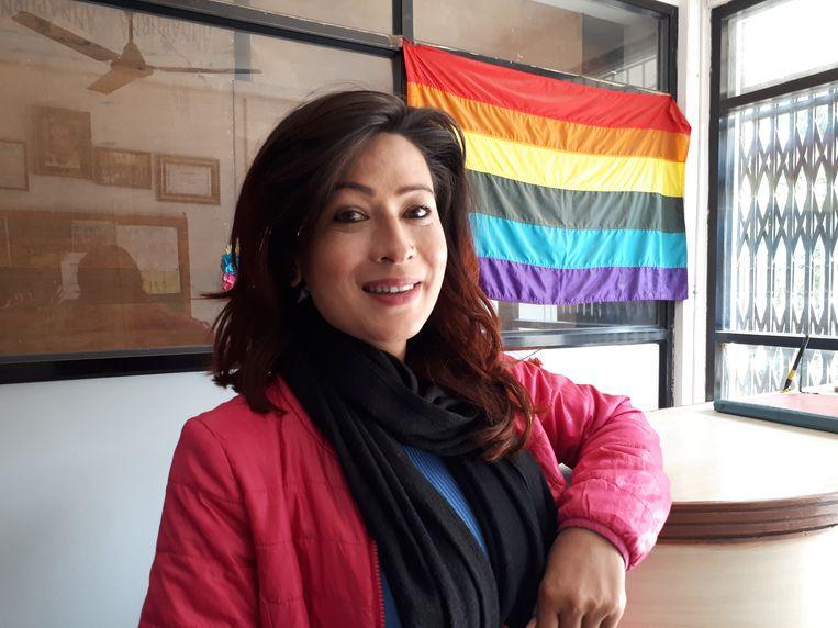 Bhumika Shreshta kon in 2015 als eerste op reis met de 'O' van 'other' in haar paspoort: geen man, geen vrouw. Beeld Ekke Overbeek