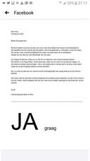 De brief van carnavalsgroep Badr en Rico die woensdag in Den Hout is verspreid.