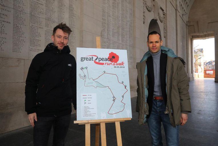 Organisatoren Greg Broekmans en Dominiek Dehaene.
