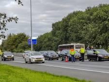 Botsing met vijf auto's op A59 bij Drunen, weg weer open