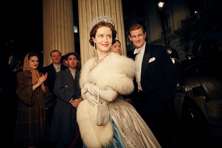Claire Foy en Matt Smith in 'The Crown'.