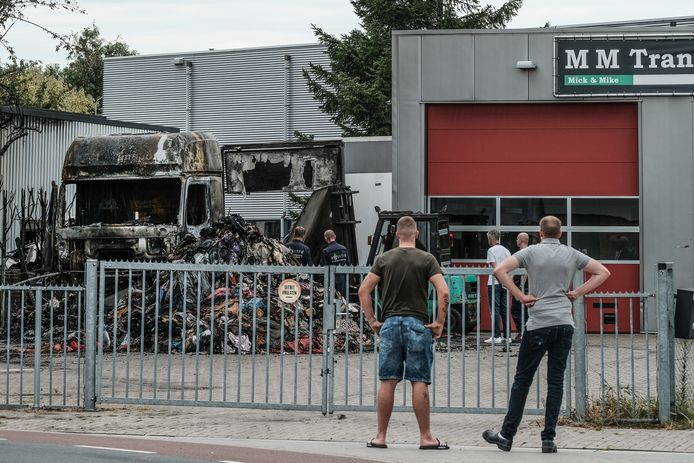 Een dag na de brand in Doesburg.
