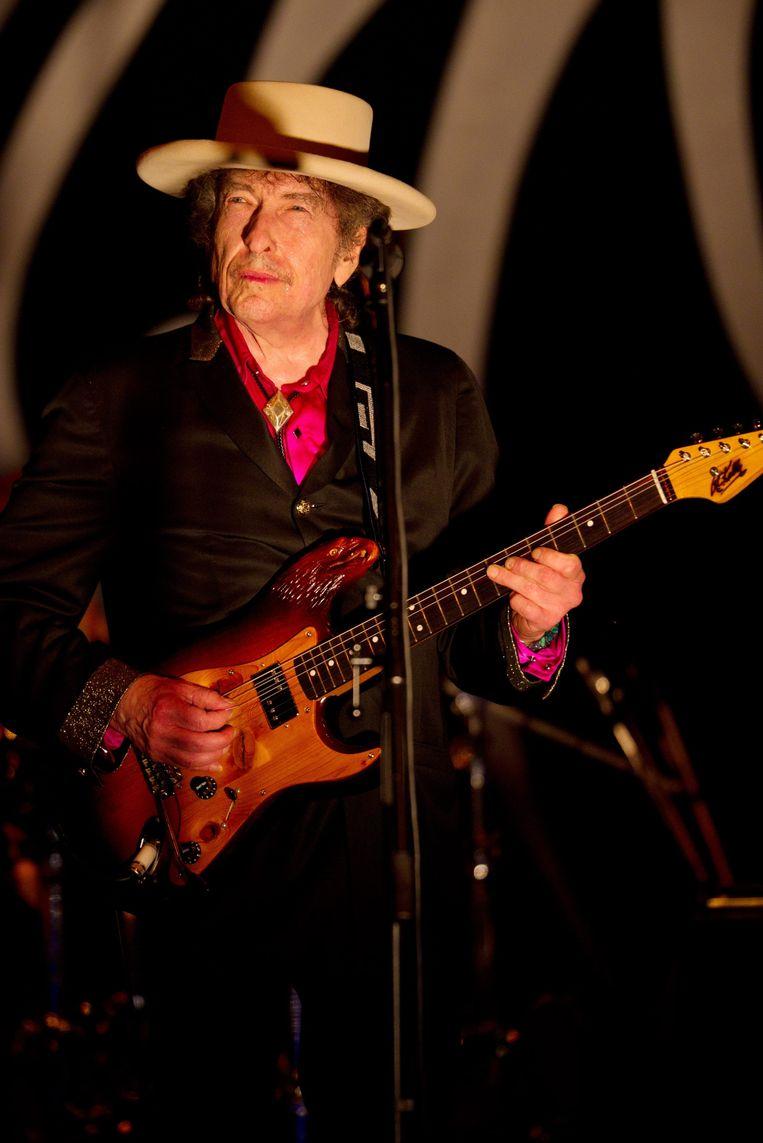 Bob Dylan in april van dit jaar. Beeld EPA