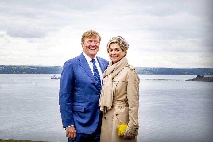Koning Willem-Alexander en koningin Maxima bezoeken Camden Fort Meagher, tijdens hun bezoek aan Ierland in juni 2019.