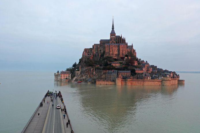 Marée haute au Mont-Saint-Michel (18 octobre 2020)