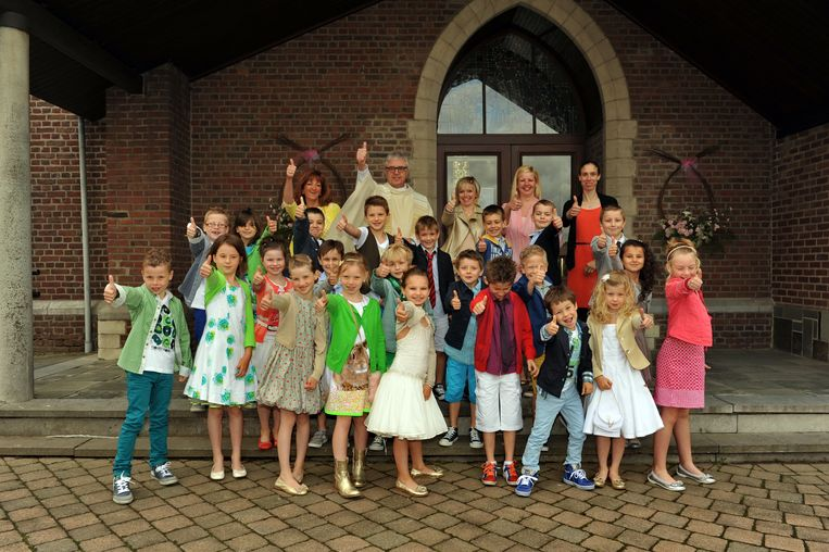 Elk jaar doen zo'n 50 jongens en meisjes hun plechtige communie in Glabbeek.