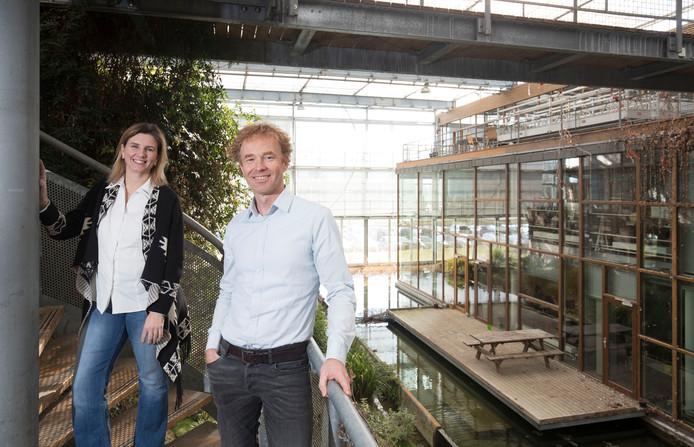 Door van der Sloot en Geurt Heimensen, hier in Lumen op Wageningen Campus, zijn de projectleiders voor de activiteiten rond 100 jaar Wageningen Universiteit.