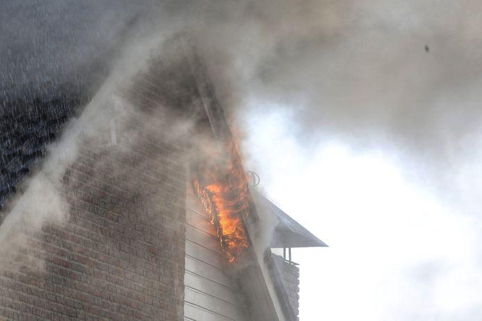 Woningbrand in Nistelrode