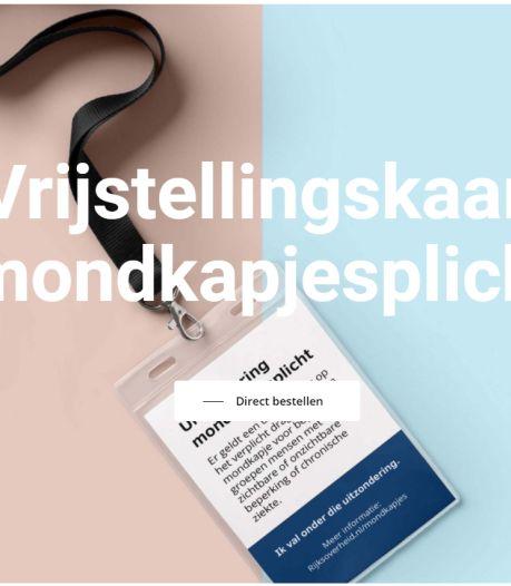 Apeldoorns bedrijf biedt 'vrijstelling' voor mondmasker aan, ministerie raadt koop af