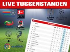 LIVE | Tussenstanden in alle Europese topcompetities
