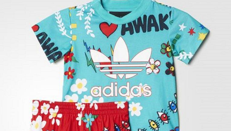 Set van broek en T-shirt, Adidas Beeld