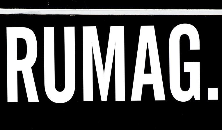 Het logo van RUMAG. Beeld ANP Kippa / KOEN VAN WEEL