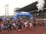 Deelnemers van start Marathon van Amsterdam