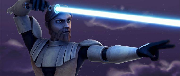 Een beeld uit de animatiereeks 'The Clone Wars'