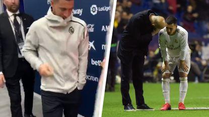 Hazard vreest het ergste na nieuwe tik op geteisterde enkel, medische controle uitgesteld wegens lange terugreis vanuit Valencia