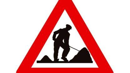 Broekstraat onderbroken door werken aan pompstation