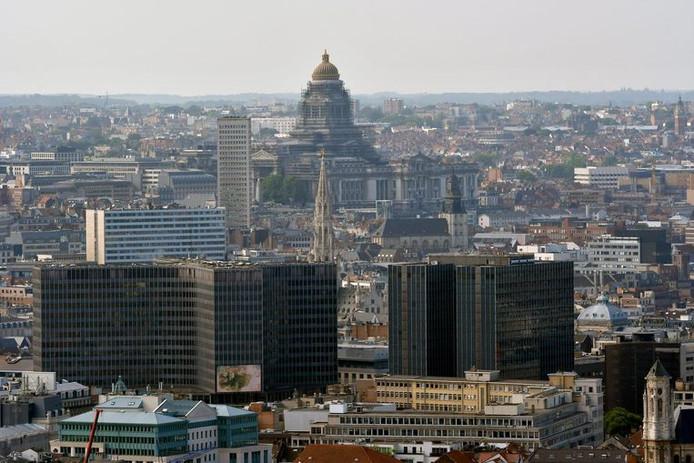 Vue aérienne sur Bruxelles.