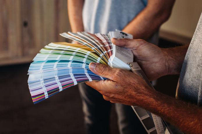 Les couleurs contrastantes sont du plus bel effet si elles sont combinées par petites touches.