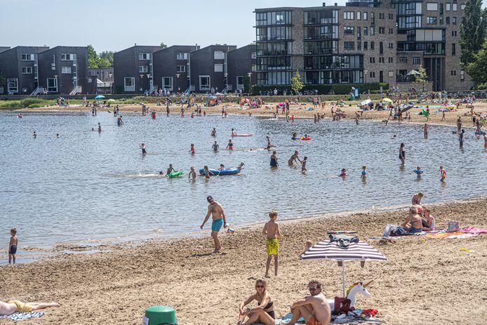 De Milligerplas in Zwolle was een populaire bestemming vandaag.