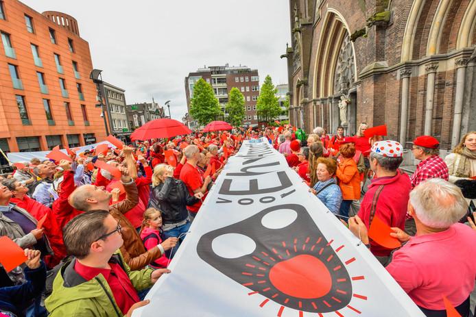 Ook in Eindhoven gingen demonstranten de straat op.