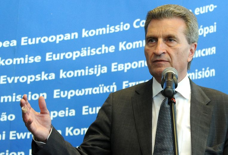 Eurocommissaris Günther Oettinger.