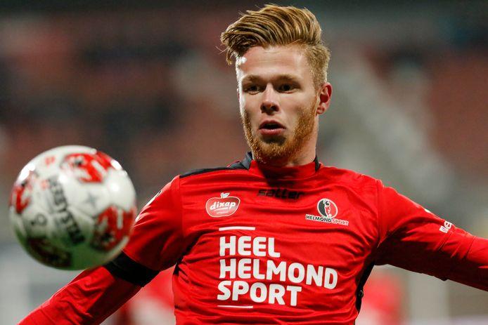 Givan Werkhoven in dienst bij Helmond Sport, waar hij vorig seizoen 23 wedstrijden speelde.