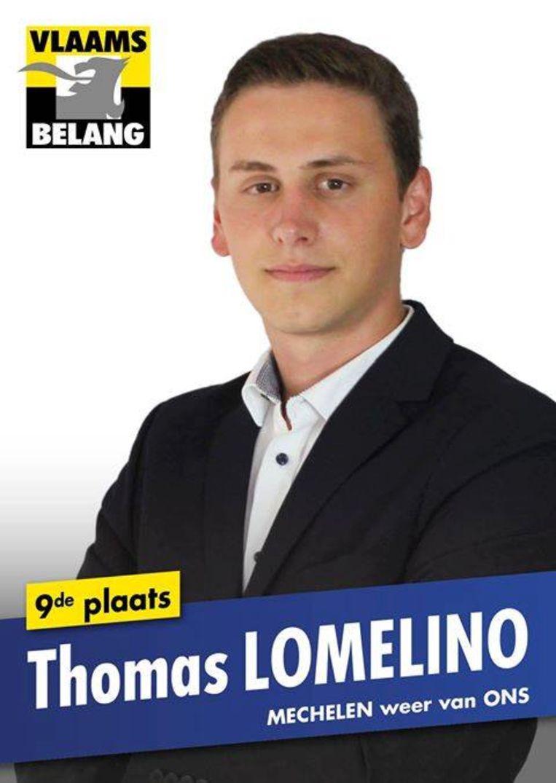Bij de jongste gemeenteraadsverkiezingen kwam Lomelino nog op voor het Vlaams Belang in Mechelen. Hij stond toen op de negende plaats op de lijst.