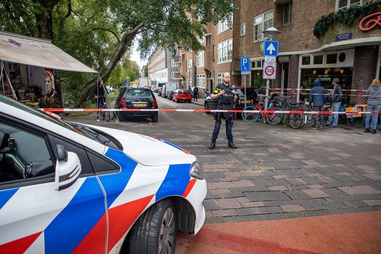 Dinsdagmiddag was in dezelfde straat ook al een schietpartij. Beeld Hollandse Hoogte /  ANP