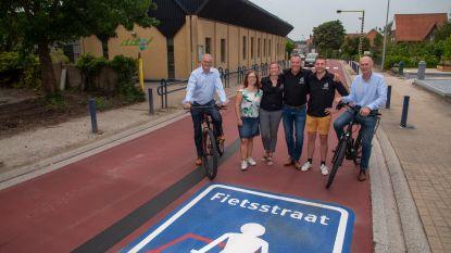Terug naar school : Ouderraad tevreden met resultaten fietsstraat aan Sint-Elooischool