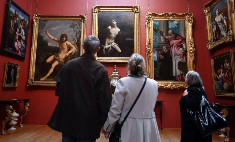 De Dulwich Picture Gallery wil niet bekendmaken welke twee Rembrandts de dief op het oog had.   Beeld Getty Images