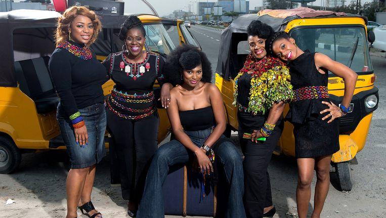 In het theaterstuk Hear Word! vertellen actrices persoonlijke verhalen van Nigeriaanse vrouwen. Beeld Frascati