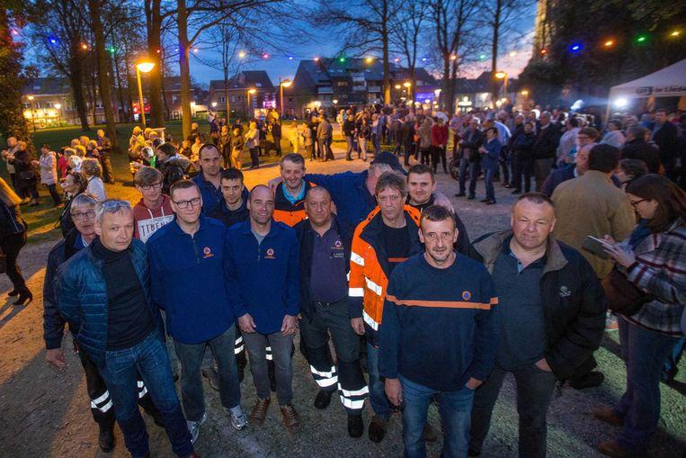 De werknemers van de Civiele Bescherming voelden zich gesterkt door het initiatief van gisteravond.