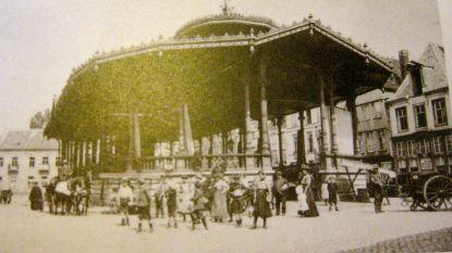 De vishal op de Vismarkt uit 1884