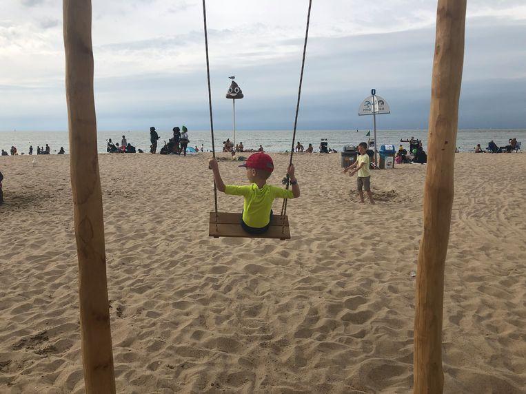 De infrastructuur oogt alvast mooi op het Nieuwe strand in Oostende