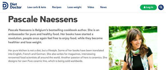 Pascale Naessens op de website van DietDoctor