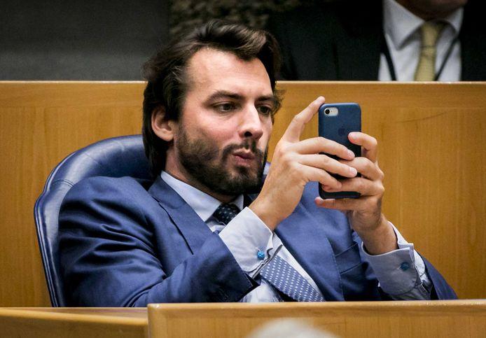 Thierry Baudet (FvD) tijdens de tweede dag van de Algemene Politieke Beschouwingen.