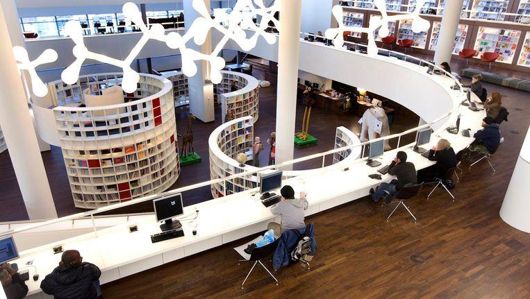 De centrale bibliotheek van Amsterdam Beeld anp